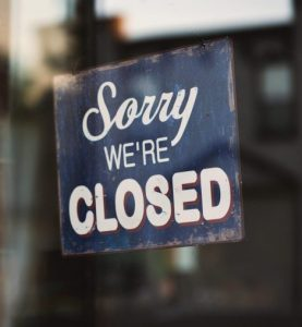 Sorry we are closed sign 1