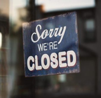 Sorry we are closed sign 2